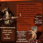 Festival Band dan Lomba Tari Kreasi Tradisional STMIK Palangka Raya 2016