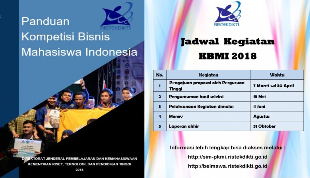 Program Kompetisi Bisnis Mahasiswa Indonesia (KBMI) 2018